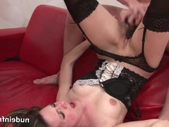 Petite french brunette hard analized plugged and fist fucked