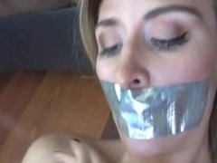 Tape Gagged & Blind Folded Bondage