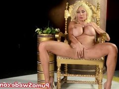 European Blonde Puma Swede Gets Cums From Toy