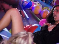 Babe fucked at pool party