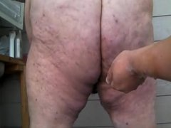 Fisting chub bear's ass