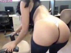 DESI NRI GIRL CALMING AND RUBBING HER SELF IN OFFICE  DailyGirlsCute.com