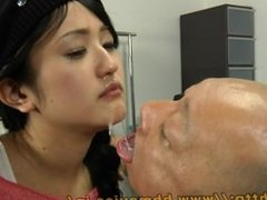 Doctor eating sexy sick girl's snot