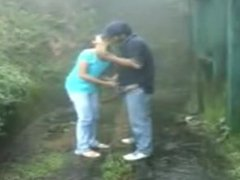 Indian couple fuck in the rain. www.sexxyfreecams.com