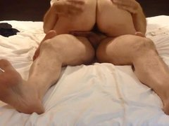 Chubby chick with a hairy muff sex