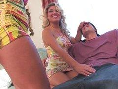 Shyla shares a big cock with Aubrey Addams