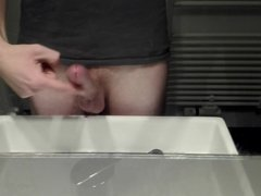 cumshot with one finger