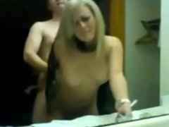 Blonde babe mirror sex