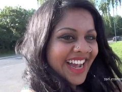 Indian amateur bbw kikis public flashing and