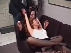 tickling the boss in the office