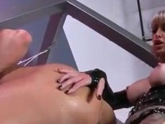 Mistress fucking slave with strapon