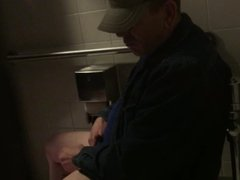 Caught a guy jerking off in the men's room