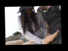 japanese girlfriend public handjob - more videos on girlsfuckoncam