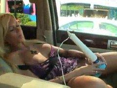 Public masturbating in a car
