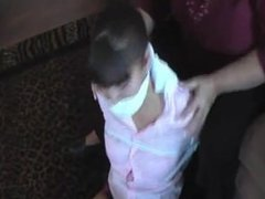Babysitter Ana tied up