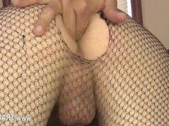 Neighbour eat brutal cock of tranny