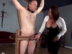 venus punishes her slaves balls