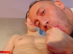 My str8 neighbour gets sucked by a guy!