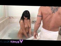 Busty MILF Lisa Sparkle Doggy Style In Bath