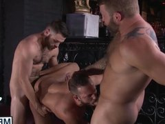 Tommy and Colby take turns railing Lukes massive bubble butt
