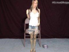 measuring shrinking woman