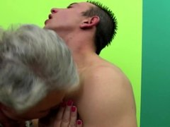 Old granny licked and fucked by young boy