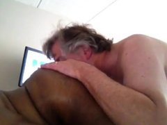 Interracial ass eating