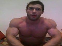 Webcam guy getting a big new dildo - @ Gaydudecams.com