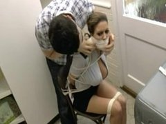 Security Guard Bound & Gagged