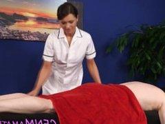 Uniformed masseuse babe