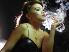 Mayumi's PVC Minidress smoking