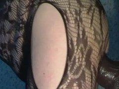 anal masturbation with BAM dildo-4
