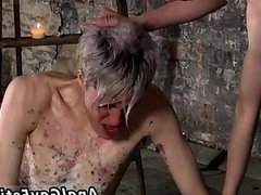 Gay boy sucks His man-meat is caged and