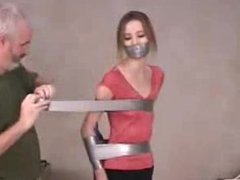 secreatary tape gagged