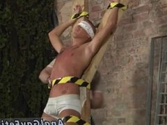 Gay black men porn He's trussed up to the cross in just his underwear