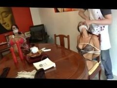 borderland bond-3 girls chair tied