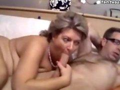 High class mature enjoys a younger cock