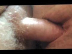 Shaved mature pussy fucked and creampied