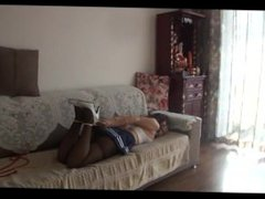 Hogtied and ballgagged Chinese girl