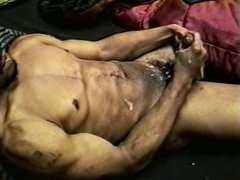 Black man masturbating and cums
