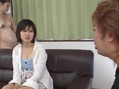 Ai Nashi feels amazing with cock in both her