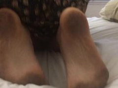 Foot Fetish GF high arched dirty soles!