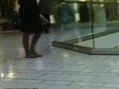 Stroll through the mall in pantyhose