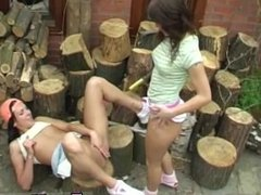 Sexy girl emo naked teens Cutting wood and eating pussy