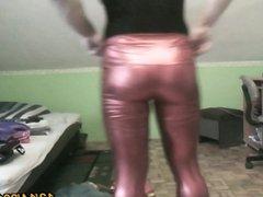 sexy latex leggins