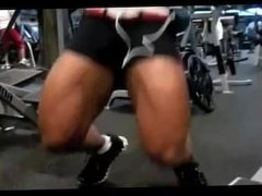 Asian lady training legs