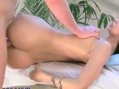 Adorable girl gets nailed hard during a massa
