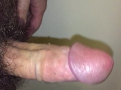 Playing with my hairy cock (no cum)