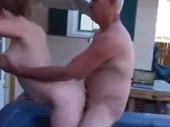 He lets his boss fuck his wife (fast motion)