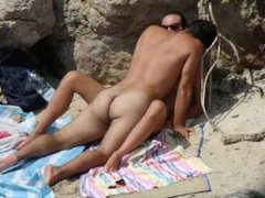 Young couple gets caught fucking on the beach - Part 3: missionary position